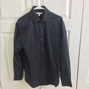 Banana Republic black button down shirt